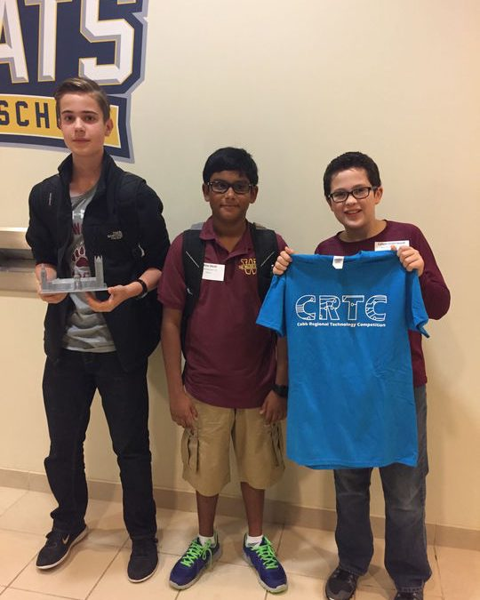 Walker School students win big at Cobb Regional Technology Competition